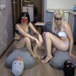 2 slaves VS 2 mistresses. Sport competitions! with MilanaSmelly human toilet [FullHD / 2020]