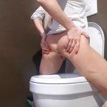 Stucked Shit In Ass Toilet Poop