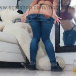 Squatting in Jeans with Valentynexx Huge Poop